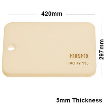3mm Ivory Perspex acrylic Sheet A3 297x420
