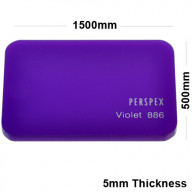 5mm Purple Acrylic Sheet 1500 x 500